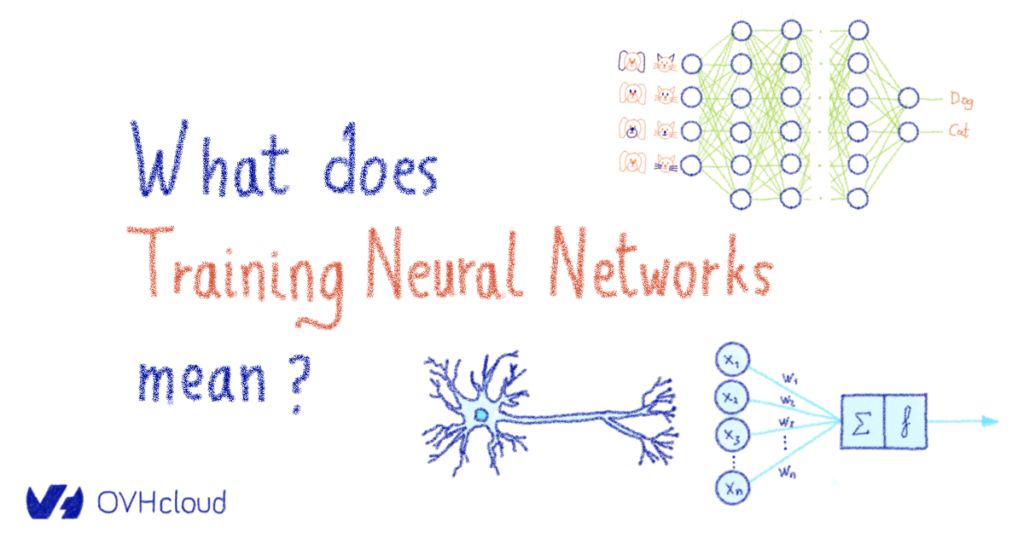 What does training neural networks mean?