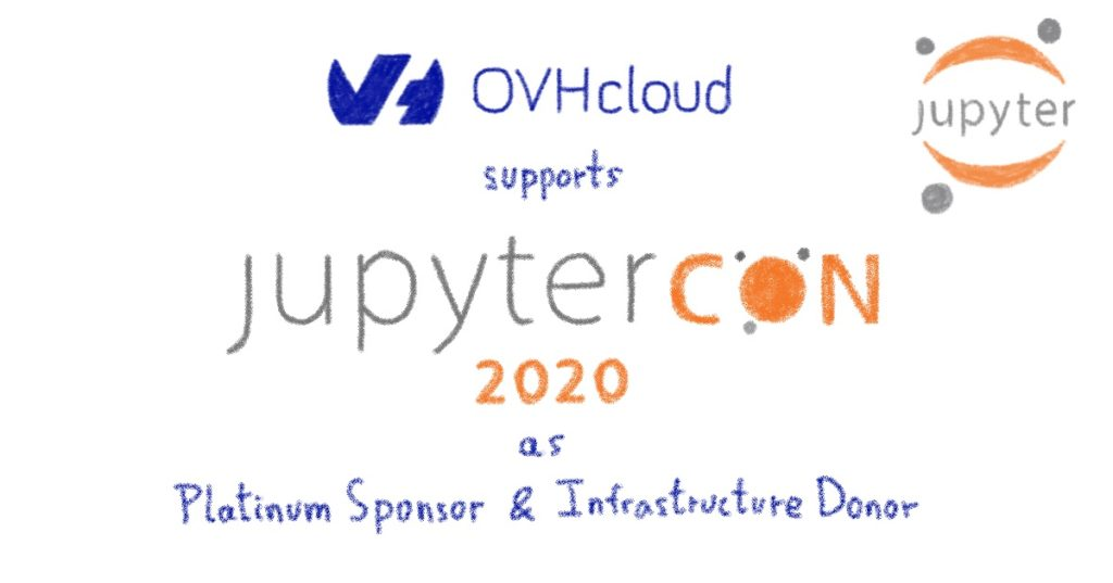 Sponsorship of the JupyterCon 2020: sharing values and supporting with infrastructure