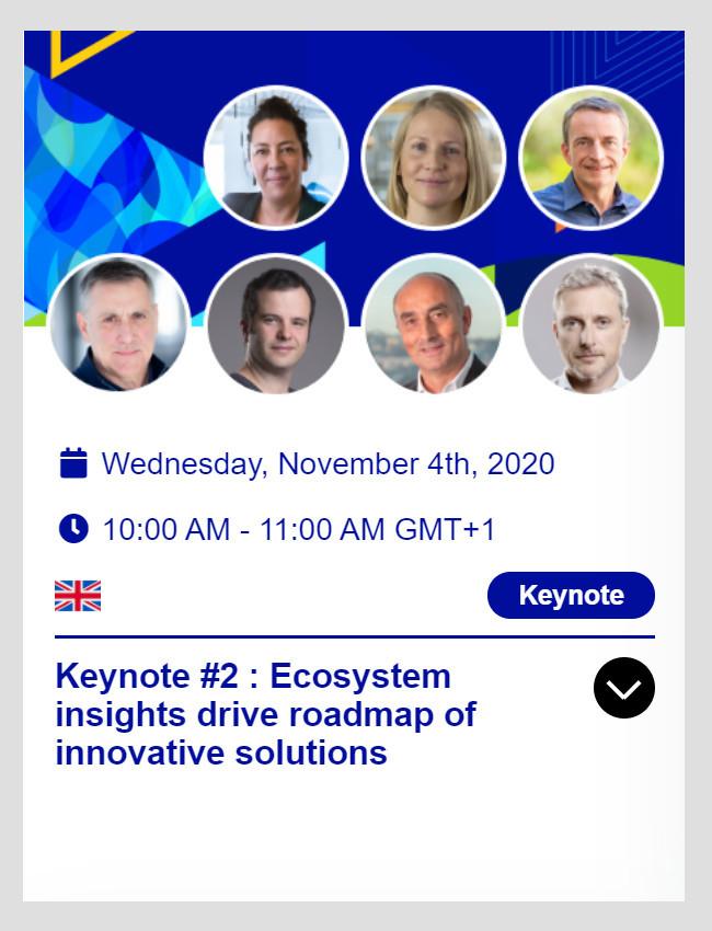 EcoEx 2020 - Keynote #2 on November 4th at 10:00 AM (CET)