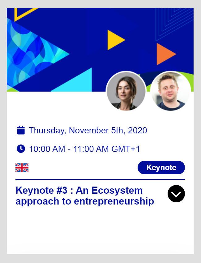 EcoEx 2020 - Keynote #3 on November 5th at 10:00 AM (CET)