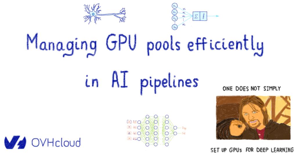 Managing GPU pools efficiently in AI pipelines